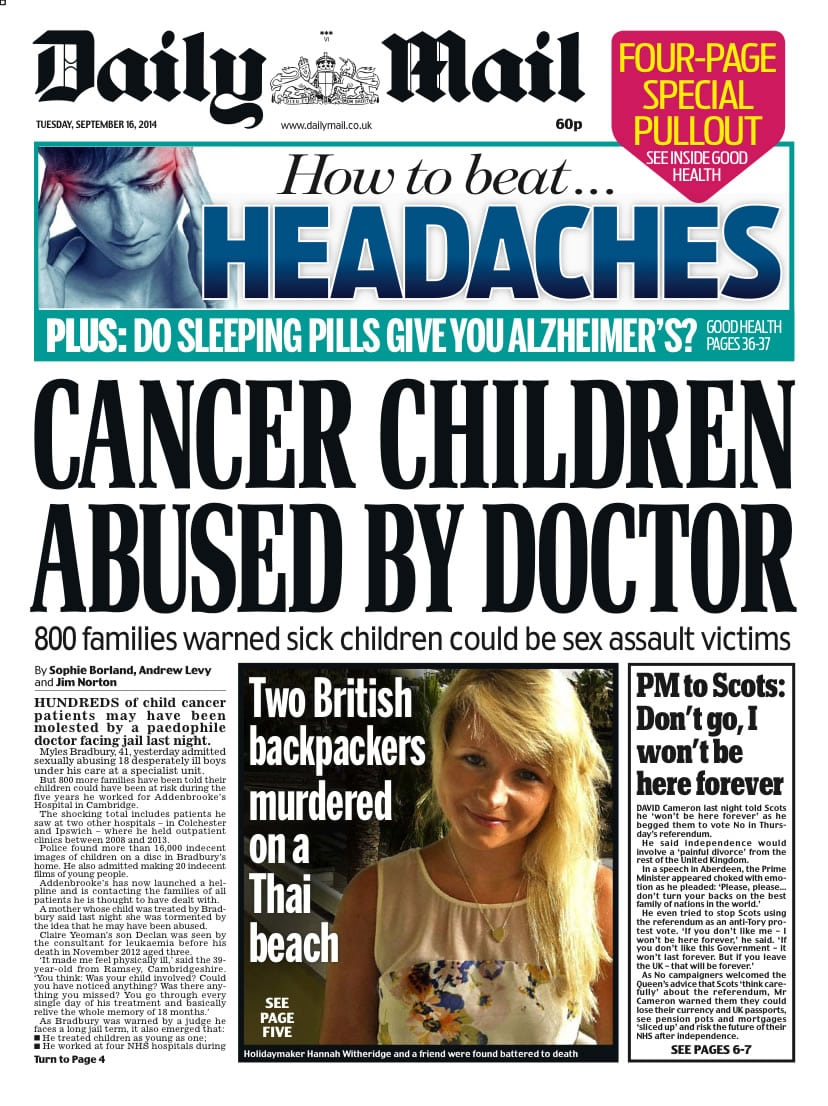 Sell my story to the Daily Mail