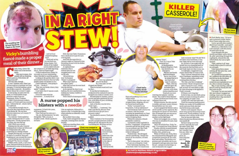 IN A RIGHT STEW – PRESSURE COOKER NEARLY BLEW MY HEAD OFF
