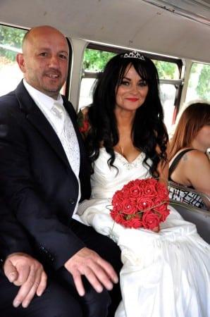 Lisa and Rob on their wedding day.