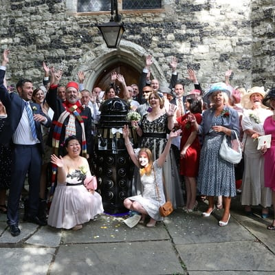 We had a Doctor Who fancy dress wedding