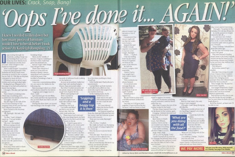 Too fat to sit on a chair: Weight loss story