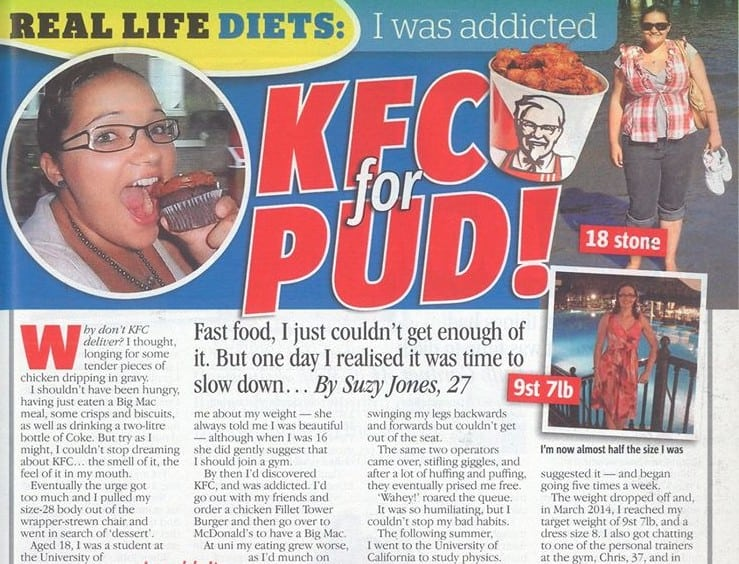 See what happened when I went on a KFC diet…