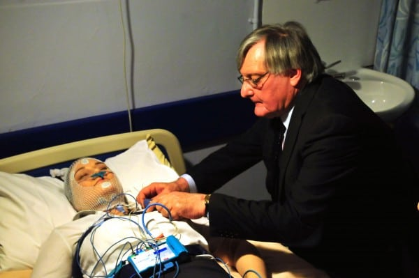 Clinical Director, Dr Peter Venn with Caley.