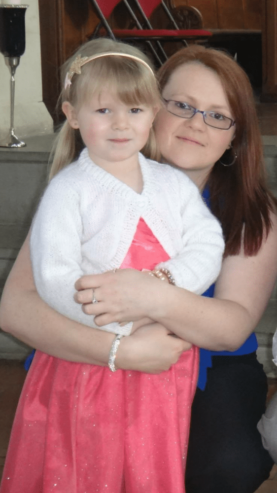Rebecca Stanton, 29, and her daughter, Taylor, six.